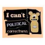 I can't bear political corectness postcard