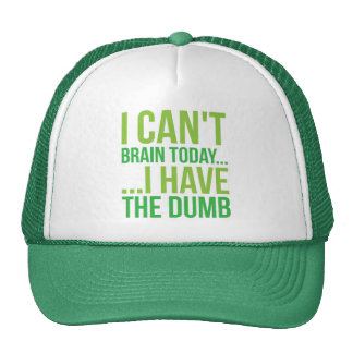 I Can't Brain Today... I Have The Dumb Trucker Hat