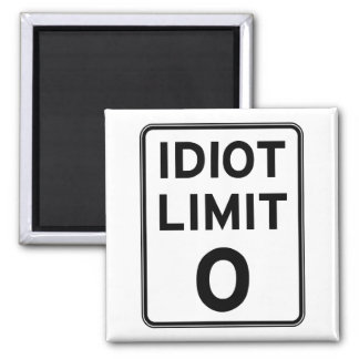 I can't deal with any more idiots 2 inch square magnet