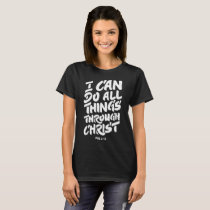 i can't do all thing's through christ autism T-Shirt