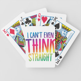 i cant even think straight bicycle playing cards