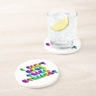 I can't even THINK straight Drink Coaster