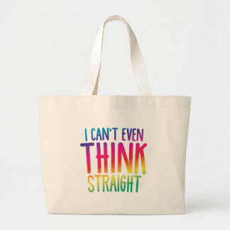 i cant even think straight jumbo tote bag