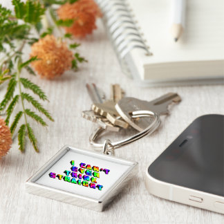 I can't even THINK straight Silver-Colored Square Keychain
