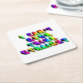 I can't even THINK straight Square Paper Coaster