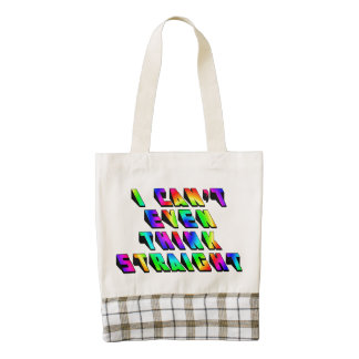 I can't even THINK straight Zazzle HEART Tote Bag