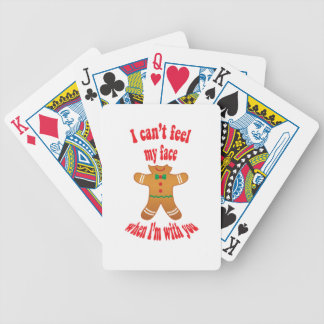 I can't feel my face - funny Christmas gingerbread Bicycle Playing Cards