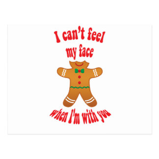 I can't feel my face - funny Christmas gingerbread Postcard