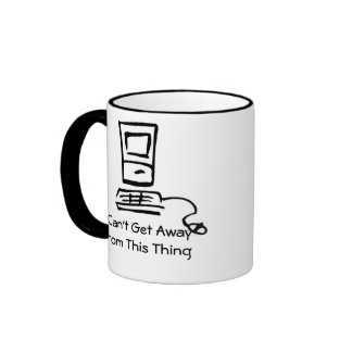 I Can't Get Away From This Thing Ringer Coffee Mug