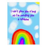 I Can't Give You a Hug Sending a Rainbow Postcard