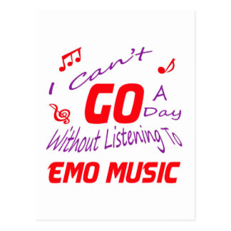 I can't go a day without listening to Emo music Postcard