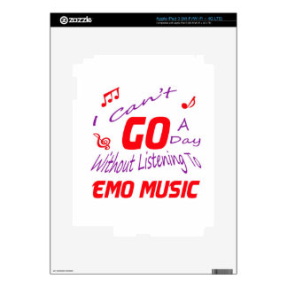 I can't go a day without listening to Emo music iPad 3 Skins