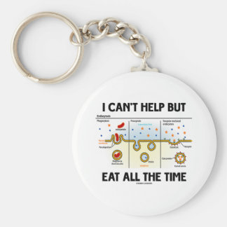 I Can't Help But Eat All The Time (Endocytosis) Keychain