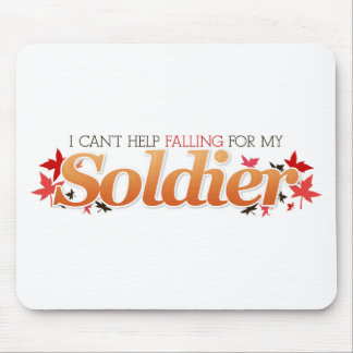 I Can't Help Falling For My Soldier Mouse Pad