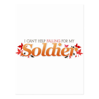 I Can't Help Falling For My Soldier Postcard