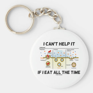 I Can't Help It If I Eat All The Time Endocytosis Keychain