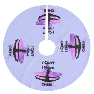 I can't I have Cheer Brushed Polyester Tree Skirt