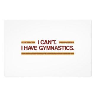 I Can't I Have Gymnastics Stationery Design