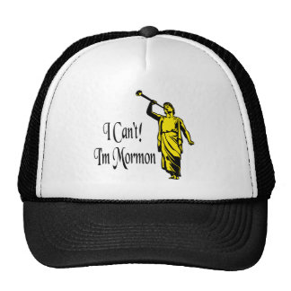I Can't, I'm Mormon Mesh Hat