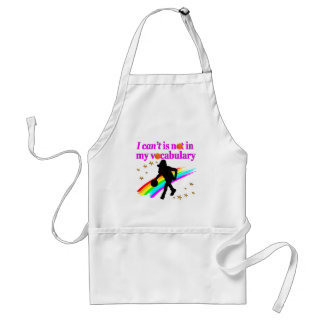 I CAN'T IS NOT IN MY VOCABULARY BASKETBALL DESIGN ADULT APRON