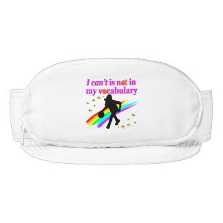 I CAN'T IS NOT IN MY VOCABULARY BASKETBALL DESIGN VISOR