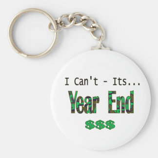 I Can't Its Year End Basic Round Button Keychain