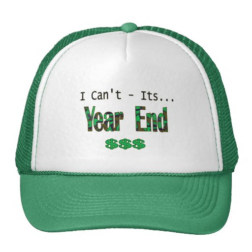 I Can't Its Year End Mesh Hat