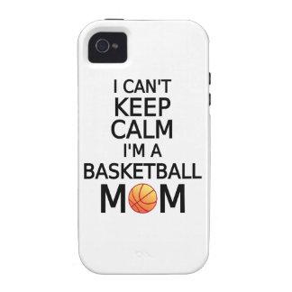 I can't keep calm, I am a basketball mom iPhone 4/4S Case