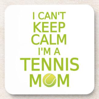 I can't keep calm, I am a tennis mom Beverage Coasters