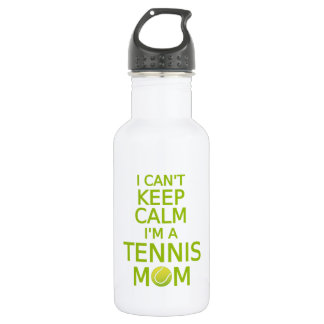 I can't keep calm, I am a tennis mom Stainless Steel Water Bottle