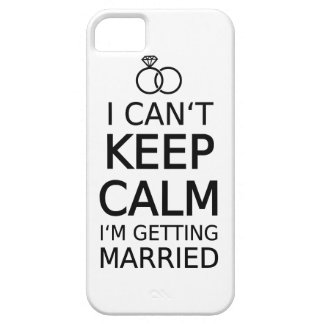 I can't keep calm, I am getting married iPhone 5 Covers