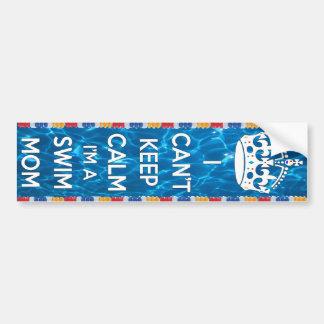 I can't keep calm I'm a swim mom Bumper Sticker