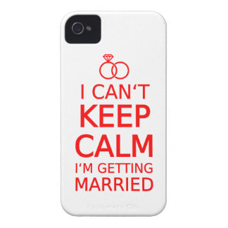 I can't keep calm, I'm getting married iPhone 4 Case-Mate Cases