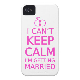I can't keep calm, I'm getting married iPhone 4 Case-Mate Case