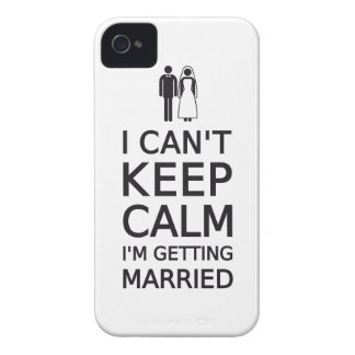 I can't keep calm, I'm getting married iPhone 4 Cases