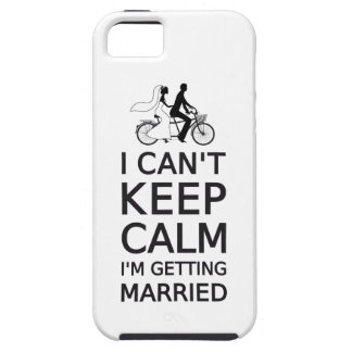 I can't keep calm, I'm getting married iPhone 5 Cover