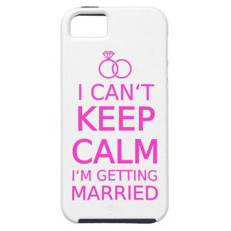 I can't keep calm, I'm getting married iPhone 5 Case