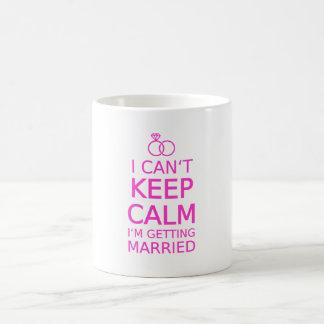 I can't keep calm, I'm getting married Coffee Mug