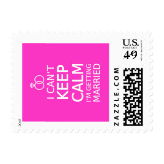 I can't keep calm, I'm getting married Postage