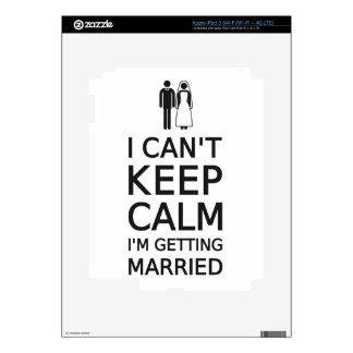 I can't keep calm, I'm getting married Skin For iPad 3