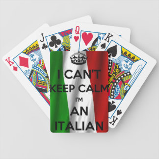 I CAN'T KEEP CALM... I'M ITALIAN BICYCLE PLAYING CARDS
