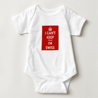 I can't keep calm i'm Swiss for baby Baby Bodysuit
