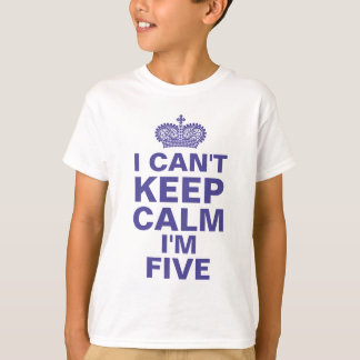 I can't keep calm personalized birthday boy blue T-Shirt