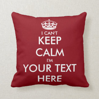 I can't keep calm throw pillow | Funny home decor