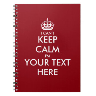 I can't keep calm writing notebook or journal