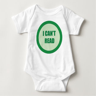I Can't Read Baby Bodysuit
