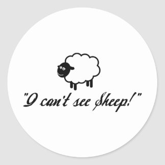 I Can't See Sheep! Classic Round Sticker