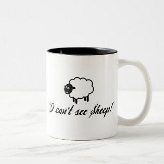I Can't See Sheep! Two-Tone Coffee Mug