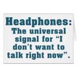 I Can't Talk Right Now Card