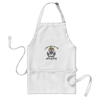 I can't wait for the ZOMBIE APOCALYPSE! Adult Apron